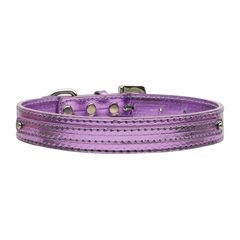"Mirage Pet Products 3/8"" (10mm) Metallic Two Tier Collar Purple Large"