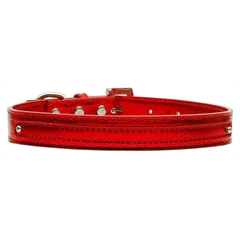 "Mirage Pet Products 3/8"" (10mm) Metallic Two Tier Collar Red Large"