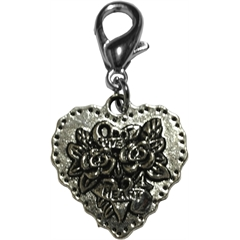 Mirage Pet Products Tattooed Heart Lobster Claw Charm