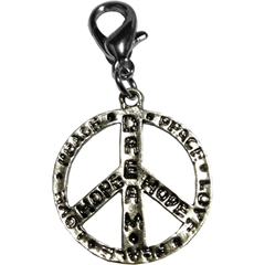 Mirage Pet Products Dream, Hope, Love, Peace Sign Lobster Claw Charm