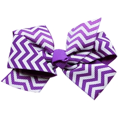 Mirage Pet Products Hair Bow Chevron French Barrette Purple