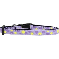 Mirage Pet Products Confetti Dots Nylon Collar Lavender Cat Safety