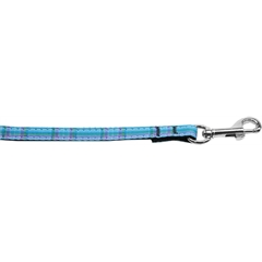 Mirage Pet Products Plaid Nylon Collar  Blue 3/8 wide 6ft Lsh