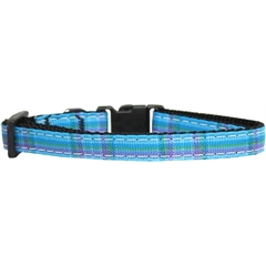 Mirage Pet Products Plaid Nylon Collar  Blue XS