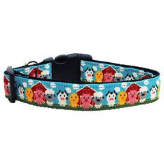 Mirage Pet Products Barnyard Buddies Nylon Ribbon Collars Medium