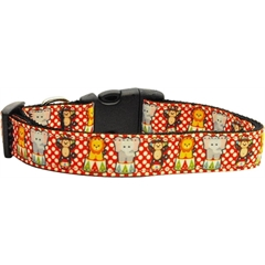 Mirage Pet Products Circus Smirkus Nylon Ribbon Collars Medium