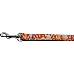 Mirage Pet Products Circus Smirkus Nylon Ribbon Collars 1 wide 4ft Leash