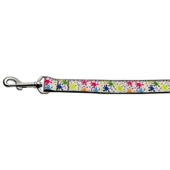 Mirage Pet Products Splatter Paint Nylon Ribbon Collars 1 wide 4ft Leash