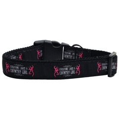Mirage Pet Products Country Girl Nylon Ribbon Dog Collars Large