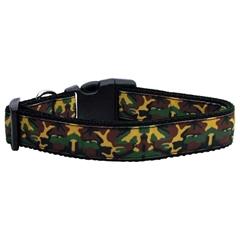 Mirage Pet Products Green Camo Nylon Ribbon Dog Collars Large