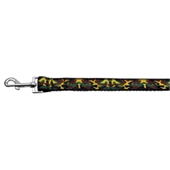 Mirage Pet Products Green Camo Nylon Ribbon Dog Collars 1 wide 4ft Leash