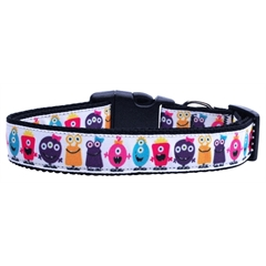 Mirage Pet Products Monsters Nylon Ribbon Dog Collars Large