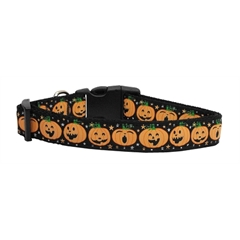 Mirage Pet Products Pumpkins Nylon Ribbon Dog Collars Large