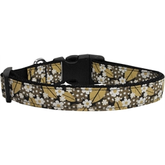 Mirage Pet Products Autumn Leaves Nylon Ribbon Dog Collars Large