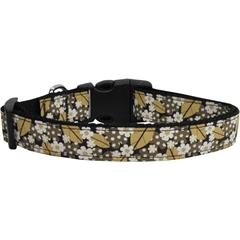 Mirage Pet Products Autumn Leaves Nylon Ribbon Dog Collars Medium