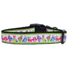 Mirage Pet Products Easter Birdies Nylon Ribbon Dog Collars Large