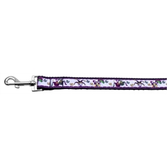 Mirage Pet Products Mardi Gras Nylon Ribbon Dog Collars 1 wide 6ft Leash