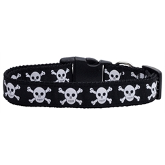 Mirage Pet Products Skulls Nylon Ribbon Dog Collars Medium