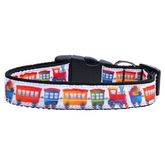 Mirage Pet Products Trains Ribbon Dog Collars Large