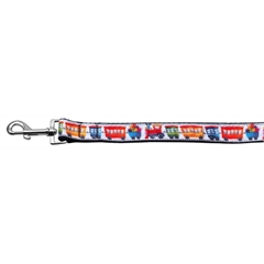 Mirage Pet Products Trains Ribbon Dog Collars 1 wide 6ft Leash