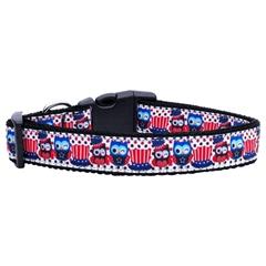 Mirage Pet Products Proud Owls Nylon Ribbon Dog Collars Medium