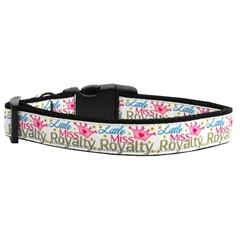 Mirage Pet Products Little Miss Royalty Nylon Collar Large