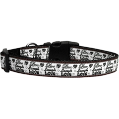 Mirage Pet Products Live Laugh and Love Dog Collar Medium
