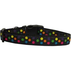 Mirage Pet Products Black Multi-Dot Dog Collar Medium