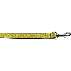 Mirage Pet Products Lime Spring Flowers 1 inch wide 4ft long Leash
