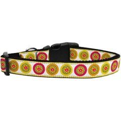 Mirage Pet Products Autumn Daisies Dog Collar Large