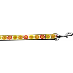 Mirage Pet Products Autumn Daisies 1 inch wide 4ft long Leash
