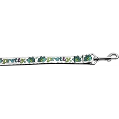 Mirage Pet Products Pretty as a Peacock 1 inch wide 6ft long Leash