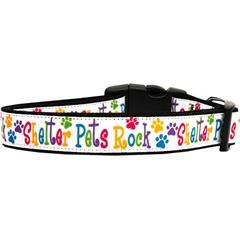 Mirage Pet Products Shelter Pets Rock Nylon Dog Collars Large