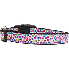 Mirage Pet Products Confetti Paws Nylon Dog Collars Medium