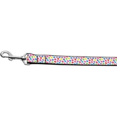 Mirage Pet Products Confetti Paws Nylon Dog Leashes 6 Foot Leash