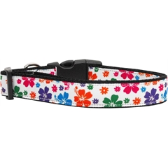 Mirage Pet Products Multi-Colored Hawaiian Hibiscus Nylon Dog Collars Large
