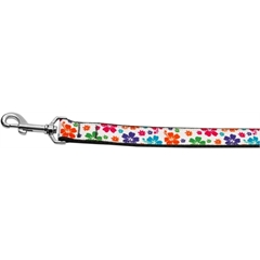 Mirage Pet Products Multi-Colored Hawaiian Hibiscus Nylon Dog Leashes 6 Foot Leash
