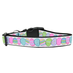 Mirage Pet Products Easter Egg Nylon Ribbon Dog Collar Medium