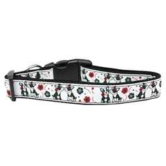 Mirage Pet Products French Love Nylon Dog Collar Medium