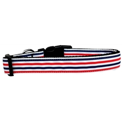 Mirage Pet Products Patriotic Stripes Nylon Dog Collar Medium