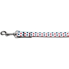 Mirage Pet Products Patriotic Polka Dots Nylon Dog Leash 6 Foot