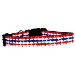 Mirage Pet Products Stars in Stripes Nylon Dog Collar Medium