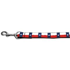 Mirage Pet Products Texas Flag Nylon Dog Leash 4 Foot