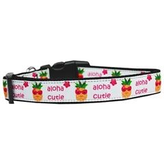 Mirage Pet Products Aloha Cutie Nylon Dog Collar Large
