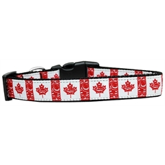 Mirage Pet Products Canadian Flag in Swirls Nylon Dog Collar Medium