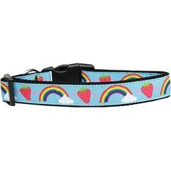 Mirage Pet Products Rainbows and Berries Nylon Dog Collar Medium