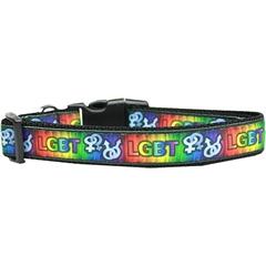 Mirage Pet Products LGBT Nylon Dog Collar Medium