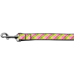 Mirage Pet Products Lemondrop Plaid Nylon Dog Leash 6 Foot