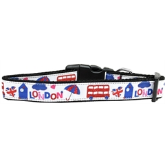 Mirage Pet Products London Town Nylon Dog Collar Medium