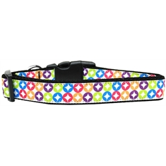 Mirage Pet Products Bright Diamonds Nylon Dog Collar Large
